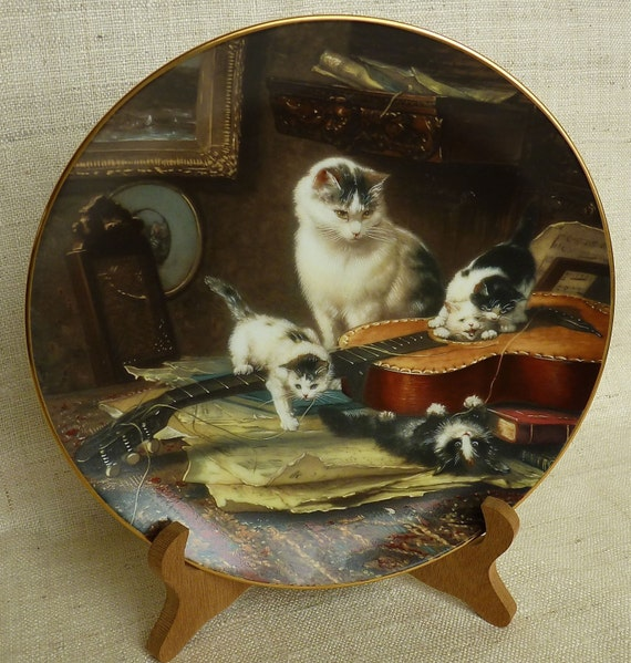"Henriette Ronner ""STRING QUARTET"" 1991 Second Issue W. L. George Fine China The Victorian Cat,"