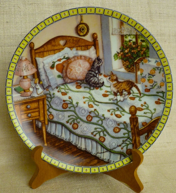 "HANNAH HOLLISTER INGMIRE  ""A Sunny Spot"" Third Issue ""Cozy Country Corners"" Limited Edition Edwin M. Knowles Fine China"