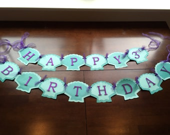 Little Mermaid Birthday Banner