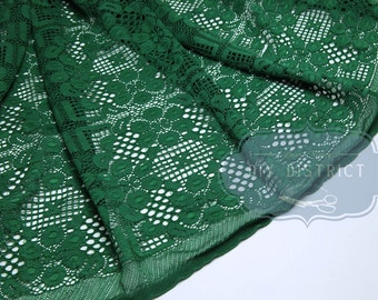 Green floral lace stretch.
