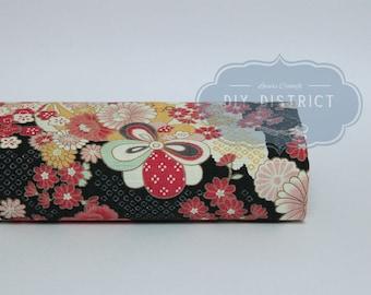 Japanese fabric ball Temari and flowers.