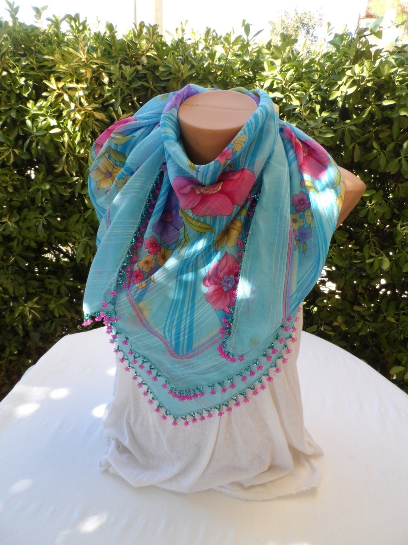 summer scarf turkish scarf turkish needle lace handmade