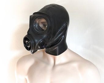 S-10 Gas mask with attached hood