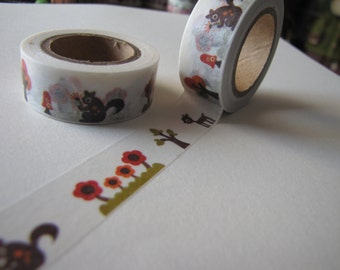 Squirrel and Fawn Washi Tape