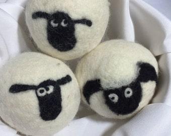 Dryer Balls 100% Canadian Wool - Set of  3 Sheep Dryer Balls
