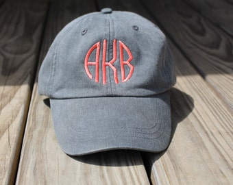 Monogrammed Hat Set of 9 Baseball Cap, Bridesmaid Gift, Groomsman Gift, Personalized, Monogrammed