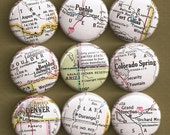 One Inch Magnet Set - Colorado Map - One-of-a-kind Set