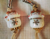 ZIP PULLS Lucky Kitty Cat Zip Pulls Zipper Charms Maneki Neko Kawaii gold and white