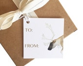 Christmas or Winter Gift Tags / pack of 8 watercolor gift tags