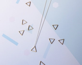 Equilateral Necklace- Delicate Sterling Silver Triangle Necklace Geometric