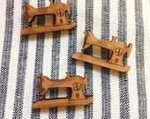 Vintage sewing machine magnet set