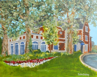 Wedding Gift for Couple, Wedding Venue Oil Painting, Glidden House in Cleveland, or THEIR Church or Venue