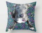 Custom Photo Pillow, Dog Lover Gift, Birthday Gift, Custom Pet Pillow Cover