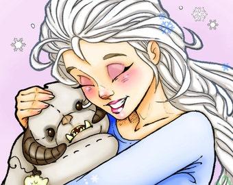 "Elsa ""Do you Wanna Hug a Wompa?"" Art Print"