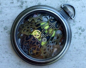 Steampunk Bumble Bee Pocket Watch