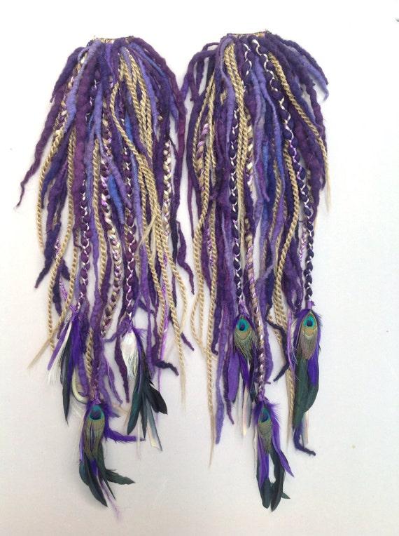 Peacock Dreadfall- CUSTOM MADE single or pair