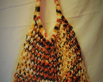 Amazing Stretchy Knitted Carry All - Fall Leaves