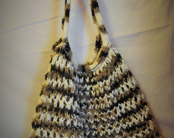 Amazing Stretchy Knitted Carry All - Latte - Brown, Tan, Cream
