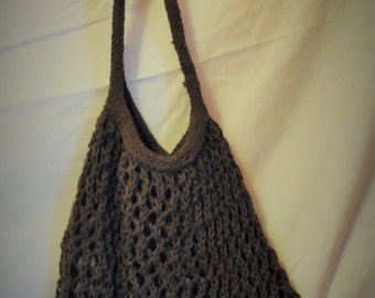Amazing Stretchy Knitted Carry All - Latte - Brown