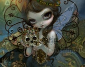 Unseelie Court: Greed dark fairy art print by Jasmine Becket-Griffith 8x10 7 seven deadly sins skull gold