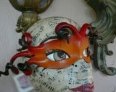 Firefly mask, Dragonfly leather mask by faerywhere