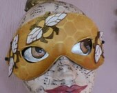 Bee Queen, leather mask by Faerywhere