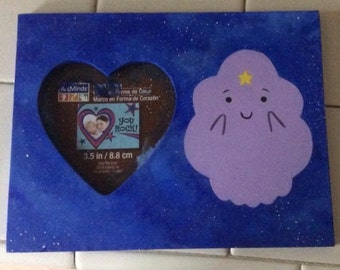 Lumpy Space Princess Heart Shaped Picture Frame