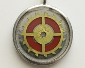 St Catherine's Wheel - Cast Resin and Clockwork Pendant