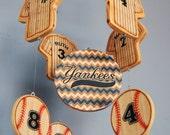 Baby Mobile - Baseball Mobile - New York Yankees Wooden Baby Mobile