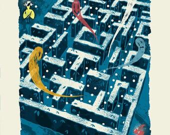 The Maze - Screenprinted Art Print