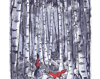 Birch Trees - Mini Art Print
