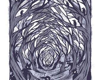 Lurkwood - Mini Art Print