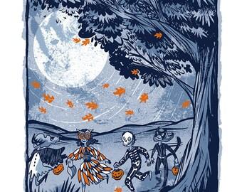 Fall Nights - Mini Art Print