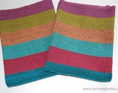 Colorful Diamond/Herringbone Handwoven Towels