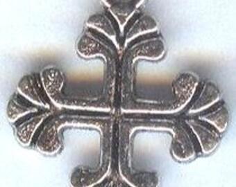 2 Tibetan Silver Small Cross Charms Pendants 20mm 2 pieces