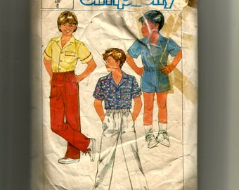 Simplicity Boys' Shirt and Pull On Pants or Shorts Pattern 6731