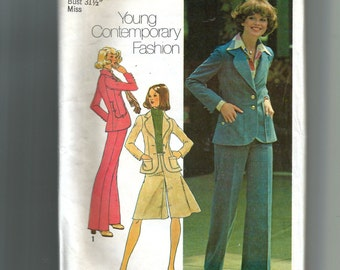Simplicity  Juniors' and Misses' Unlined Jacket , Pantskirt, and Pants Pattern