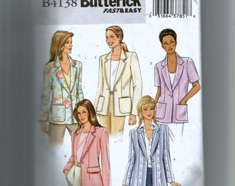 Butterick Misses' Jacket Pattern 4138