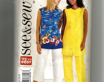 Butterick Misses' Top, Tunic, and Pants Pattern 3881