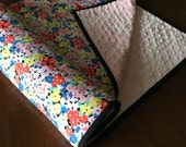 ON SALE*** Quilted Minky Baby Blanket in Sweet Floral