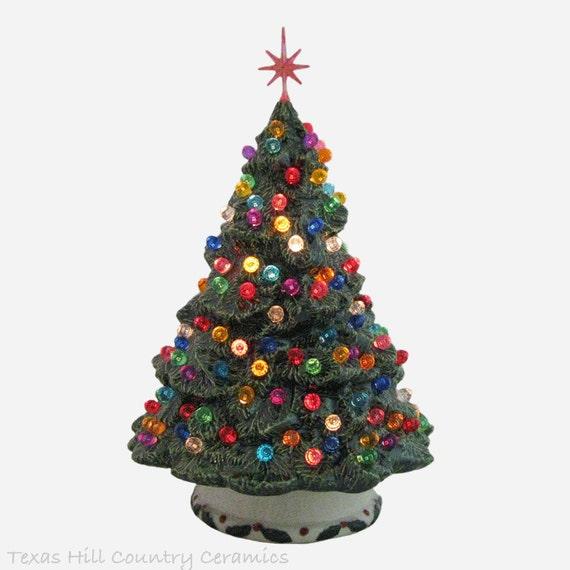 Shenandoah Pine Tree Ceramic Christmas Tree 10 Inch Tall