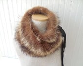 Fur Collar Cowl Snood Neckwrap Ready to Ship