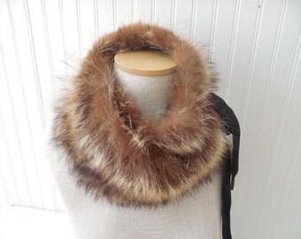 Fur Collar Cowl Snood Neckwrap Ready to Ship