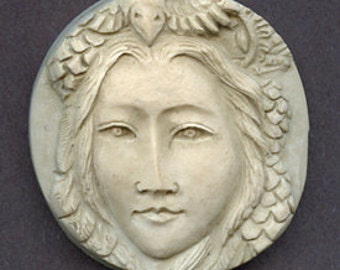 Polymer  Clay Faux Marble Art Nouveau Goddess Cab  NFM 2