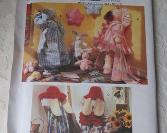 Simplicity Crafts 8387 Pattern Hide and Seek Doll Bunny and Clothes 25 Inches Tall