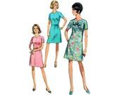 60s uncut Plus Size Dress pattern XL XXL Easy A-line Dress pattern  vintage 47-41.5-50.5 Shift Dress Dress belted madmen
