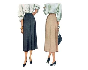 40s Skirt Pattern Slim Skirt New Look Skirt pattern vintage 33-26-35 tailored skirt pattern mccall 7275 mccalls 7275