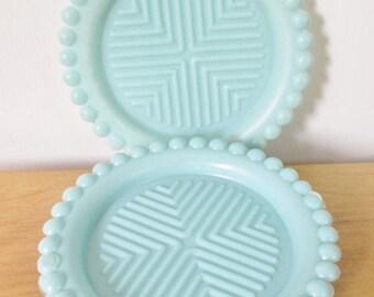 vintage blue 50s coasters