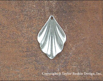 Antiqued Sterling Silver Plated Drop Earring Victorian Dapped Component (item 106-small AS) - 6 Pieces