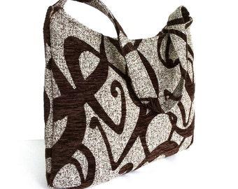 Hobo bag , Fabric shoulder bag , shoulder hobo purse , Shoulder purse , Chic office bag , Work bag , handmade handbag , Women vegan purse